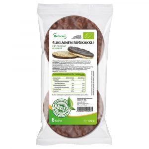 Reformi Luomu suklainen riisikakku
